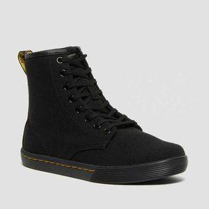NWT Dr. Martens Sheridan Black Canvas Boots